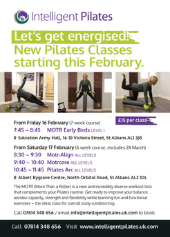 Intelligent Pilates New Classes this February